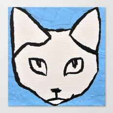 Light Blue Kit head Canvas Print