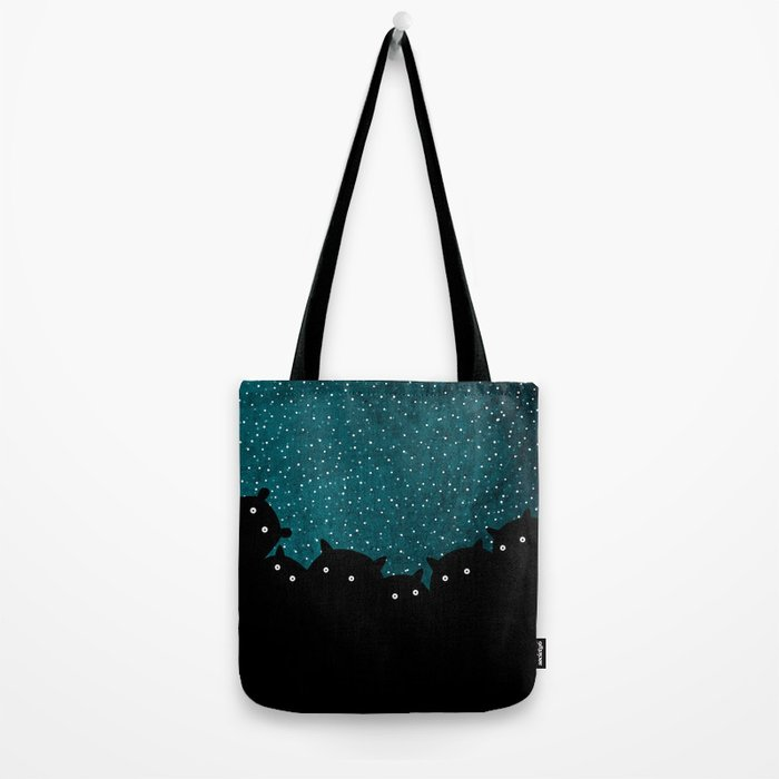 Squirrels by night #1 Tote Bag