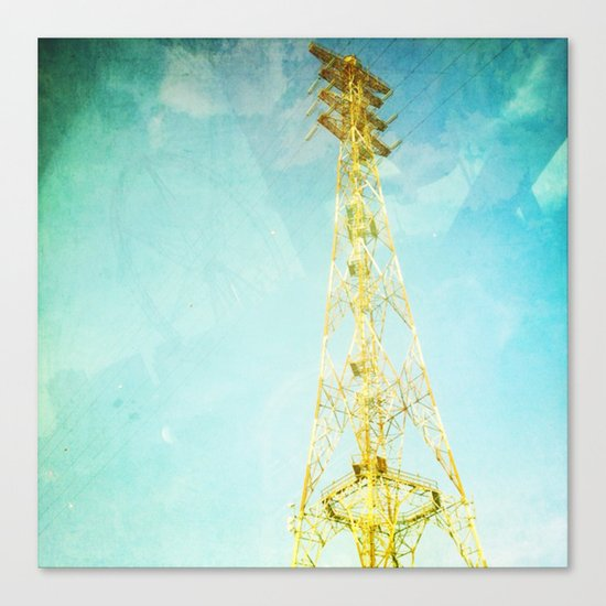 towers of gold Canvas Print