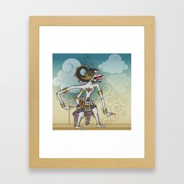 Modification of the puppet characters Hanuman white monkey in the story of the Ramayana Framed Art Print