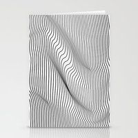 minimalist Stationery Cards featuring Minimal Curves by Leandro Pita