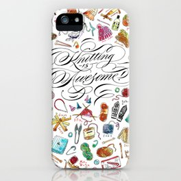 Knitting is Awesome! iPhone Case
