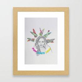 FFYDD, GOBAITH, CARIAD / Faith, Hope, Love Framed Art Print