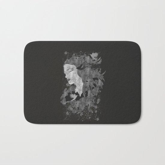 Cosmic dreams (B&W) Bath Mat