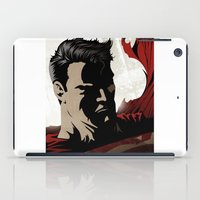 man of steel iPad Cases featuring MAN OF STEEL by Taylor Callery Illustration