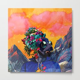 Crazy man in the mountains Metal Print