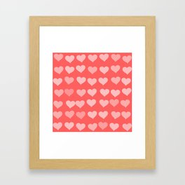 Cute Hearts Framed Art Print