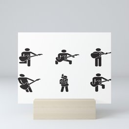 How To Hold The Guitar Mini Art Print