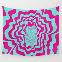acid Wall Tapestries featuring Acid Cat by Dustin Cook