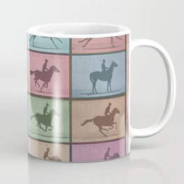 Time Lapse Motion Study Horse Color Coffee Mug