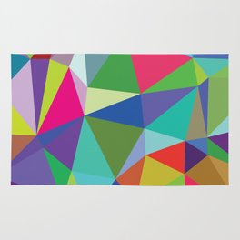 Abstract triangle mosaic background Rug