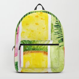 Summer Fruits Watercolor Abstraction Backpack