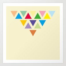 TRIANGLE COMPOSITION Art Print