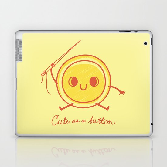 Cute as a button! Laptop & iPad Skin