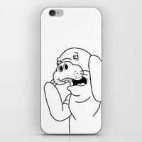 manatee iPhone & iPod Skins featuring Manatee by Borrowed Lines