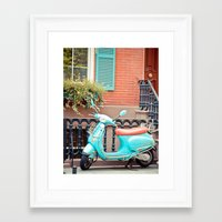 vespa Framed Art Prints featuring Vespa  by Carmen Moreno Photography