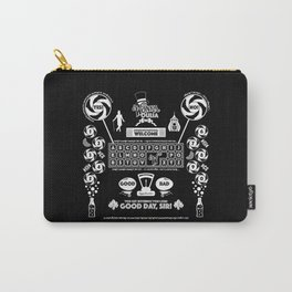 Sweet Ouija Board (White on Black) Carry-All Pouch