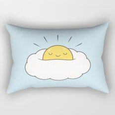 Sunny breakfast egg cloud  Rectangular Pillow