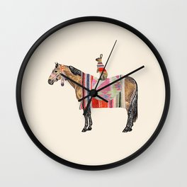 Horse with hare  Wall Clock