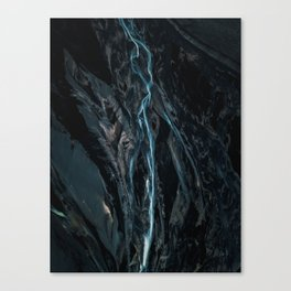 Abstract River in Iceland - Landscape Photography Canvas Print