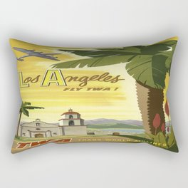 Vintage poster - Los Angeles Rectangular Pillow