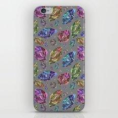 Geometric Rainbow Space Gems - Watercolor iPhone Skin
