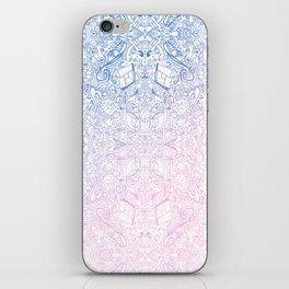 phat leaf pattern pastel gradient iPhone Skin
