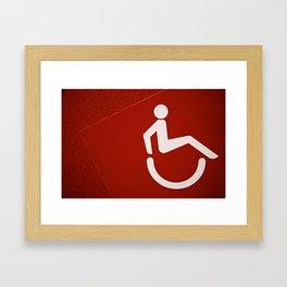 Go Red Framed Art Print