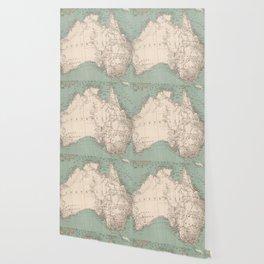 Vintage Topographic Map of Australia (1868) Wallpaper