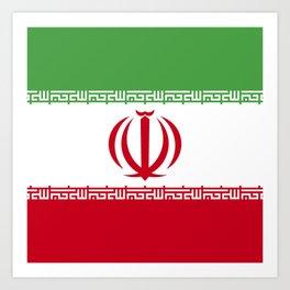 Iran flag emblem Art Print