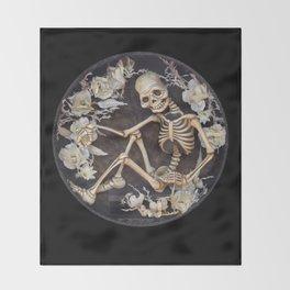 In Memoriam Skeleton  Throw Blanket
