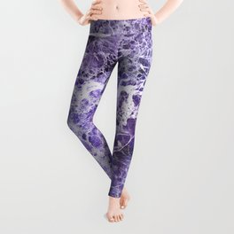 Organic Purple Abstract Marble Leggings