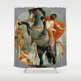 "Veronese (Paolo Caliari) ""The sacrificial death of Marcus Curtius"" Shower Curtain"
