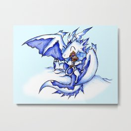 Ice Dragon Ice Cream Bliss Metal Print