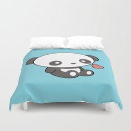 Kawaii Cute Panda With Heart Duvet Cover