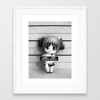 madoka Framed Art Prints featuring MADOKA LINEUP by Christophe Chiozzi