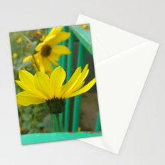 Green & Yellow Perspective Stationery Cards