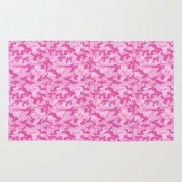 Shocking Pink Camouflage Pattern Rug