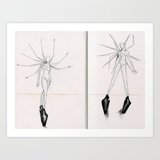 Spokes concept illustrations  Art Print