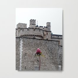 Tower Rose Metal Print