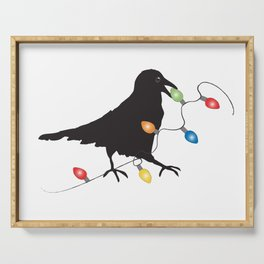 Holiday Crow 1 Serving Tray