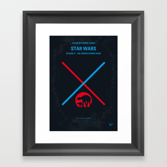No155 My STAR Episode V The Empire Strikes Back WARS minimal movie poster Framed Art Print