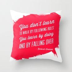 Richard Branson success quote Throw Pillow