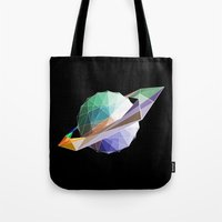 saturn Tote Bags featuring Saturn by Tony Vazquez