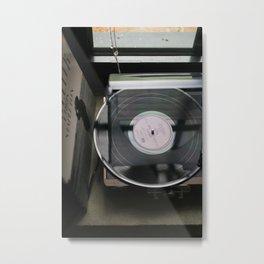 On Vinyl Metal Print