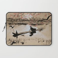 Bird Fishing Laptop Sleeve