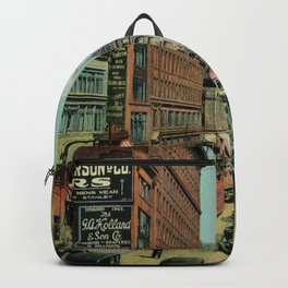 Montreal busy St. Catherine Street 1920s Backpack