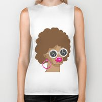 afro Biker Tanks featuring Afro by Zenga N