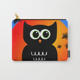 Black Owl on Moon Carry-All Pouch