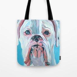 Otis the White Boxer Tote Bag
